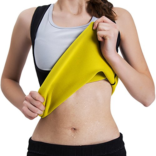 Slimming Body Shaper for Women Tummy Weight Loss Hot Thermo Neoprene Sweat Sauna Vest No Zipper Black XL (Weight To Body Shaper Lose)