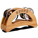 Percussion Foot Tambourine with Steel Jingles, for Cajon Accessories, Gecko