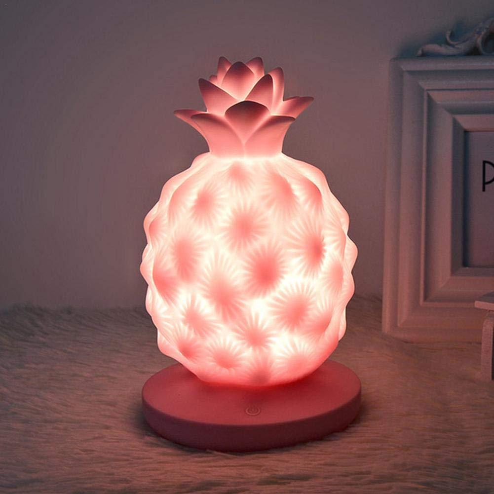 Ryegf_Augrustmaria Kreative Lichter Nacht Ananas LED Lampe weiches Silikon Spielzeug Geschenk Licht High-Power-helle Tisch Dekoration Nachttischlampe