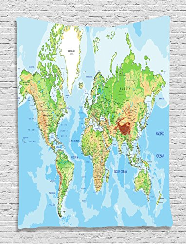 map-tapestry-world-map-print-educational-geographical-earth-ocean-journeys-voyager-tapestry-wall-han