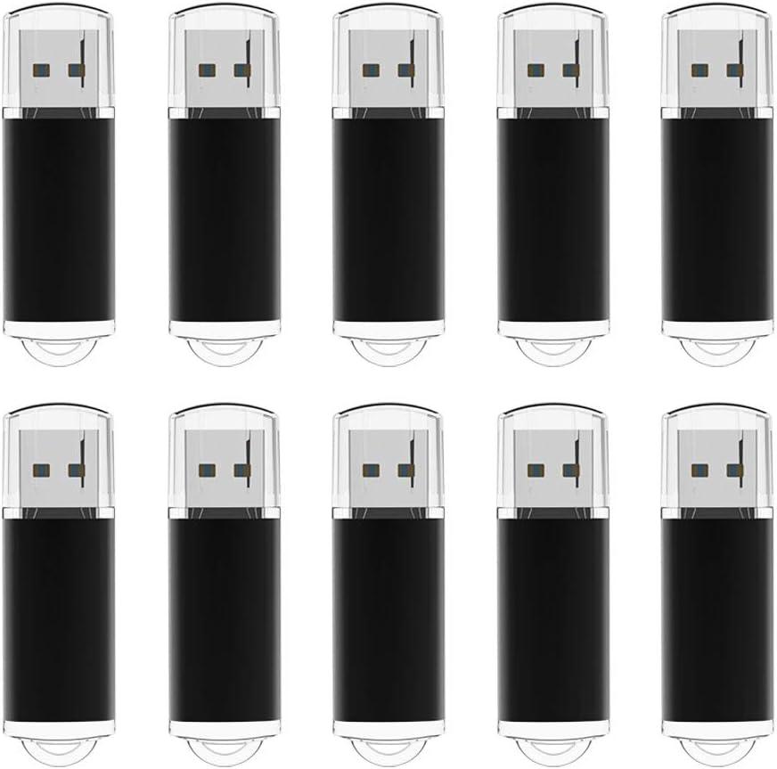 Memorias USB 4GB, TOPESEL Pendrives 10 Piezas USB 2.0 Stick Llave USB Flash Drive, Pack de 10 Unidades Negro: Amazon.es: Informática