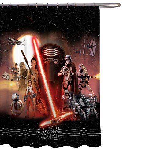 Star Wars Ep7 Poster 70'' x 72'' Fabric Shower Curtain by Lucas Film