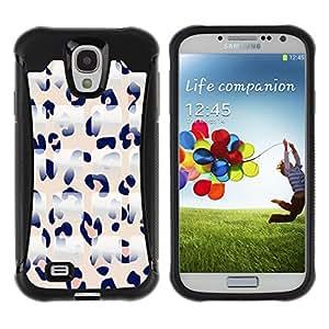 WAWU Funda Carcasa Bumper con Absorci??e Impactos y Anti-Ara??s Espalda Slim Rugged Armor -- pink leopard pattern white black -- Samsung Galaxy S4 I9500