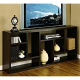 Tv Stand Is Great Display Cabinet and Bookshelf. 3-in-1. Bookcase Used As Storage and Trophy Case. Wall Flat Screen Furniture Makes a Great Modern Wood Unit. Used in Home Office or Hallway. Amazing Bookcase Also an Entertainment Center.