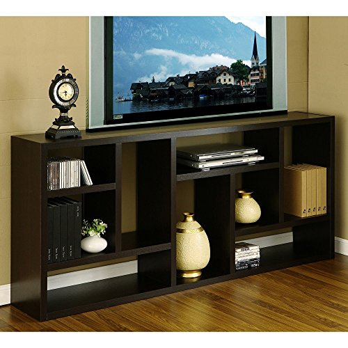 Tv Stand Is Great Display Cabinet and Bookshelf. 3-in-1. Bookcase Used As Storage and Trophy Case. Wall Flat Screen Furniture Makes a Great Modern Wood Unit. Used in Home Office or Hallway. Amazing Bookcase Also an Entertainment Center. Review