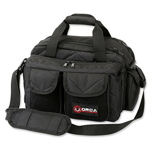Orca Tactical Gun Pistol and Ammo Shooting Range Duffle Bag (Black)