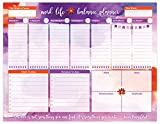 "bloom daily planners Work/Life Balance Planning Pad - Tear Off Weekly Work and Personal To Do Pad - Planning System To Do Pad - 8.5"" x 11"""