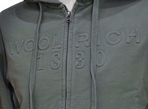 Full Colore Mod Uomo Wofel1078 Hoodi Logo Militar Foto Zip Cappuccio Vedi Felpa Woolrich qwtTp0t
