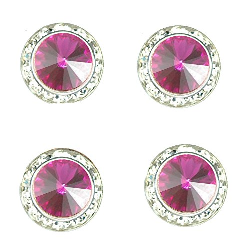 Show Jewelry Horse - Horse jewelry magnetic contestant show number pins fuschia swarovski crystal set of 4