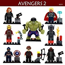 Superhero Avengers Lronman Movie Lego Minifigure 8 Set Action Figures Collectables (8 Pieces) Series Building Blocks with Lego