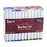 Darice Studio 71 Alcohol-Based Marker Set, Dual Tip, 48 Piece, Multicolor