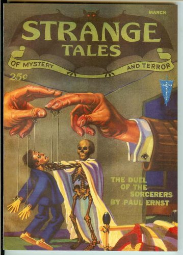 Strange Tales Volume II No. 1 March 1932;The Feline Phantom, the Duel of the Sorcerers, by the Hands of the Dead, The Trap, Tiger, Back Before the Moon, The Case of the Sinister Shape, The Veil of Tanit (Pulp Replica (Tiger Trap)