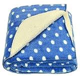 Brandonn ROYAL BLUE Polka Wrapping Sheet Cum Baby Blanket for Babies( 75 cm x 98 cm)