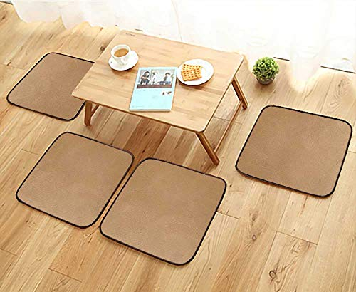 - Jiahonghome Modern Chair Cushions Brown Leather Texture Closeup Useful as Background for Design Works Convenient Safety and Hygiene W23.5 x L23.5/4PCS Set