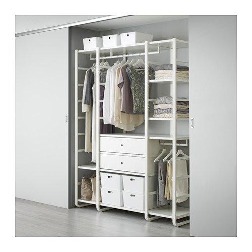 IKEA 3 secciones estante de pared, blanco 65 x 21 5/8 x 85 ...