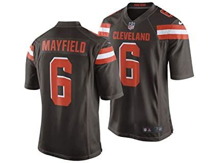 18eb474b8cf Image Unavailable. Image not available for. Color  Nike Men s Cleveland  Browns Baker Mayfield NFL Jersey ...