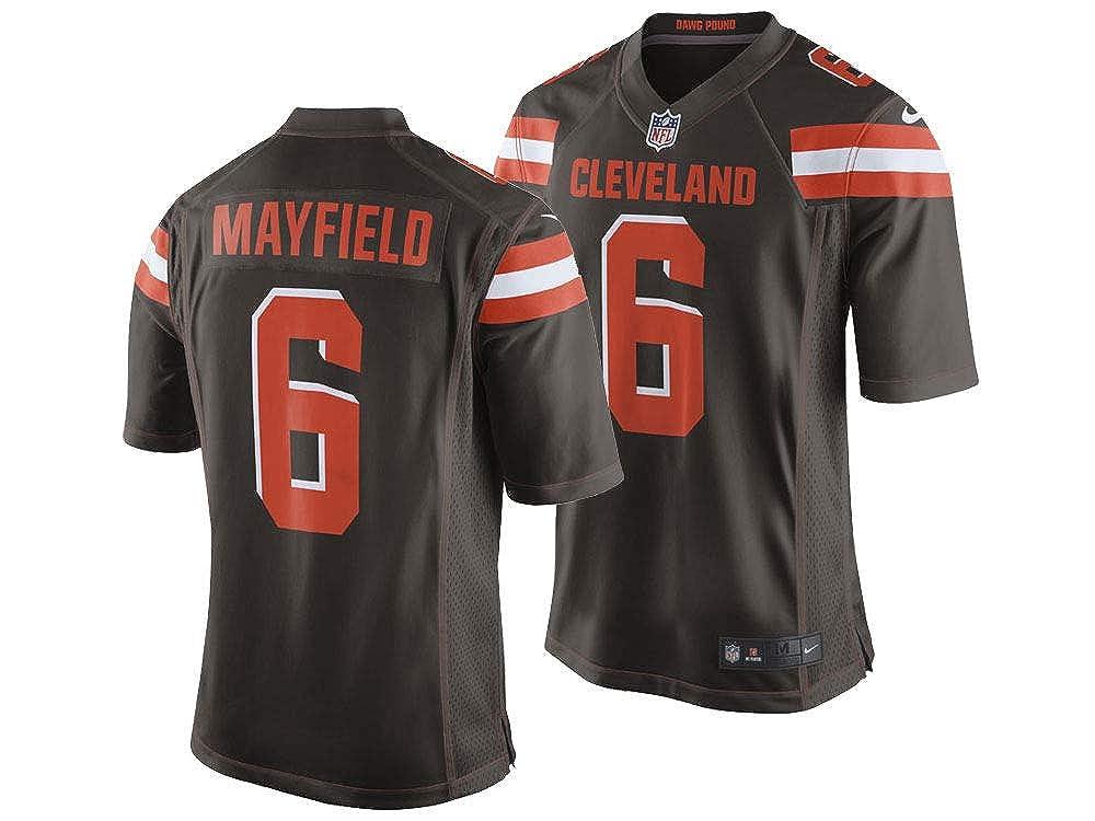 1e9e689eb Amazon.com : Nike Men's Cleveland Browns Baker Mayfield NFL Jersey XX-Large  : Clothing