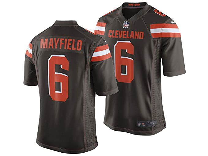 cf7eaff5d73 Image Unavailable. Image not available for. Color: Nike Men's Cleveland  Browns Baker Mayfield NFL Jersey ...