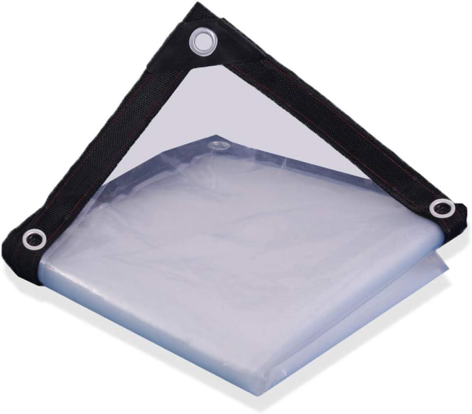Transparent 4x4m 12x12ft YSHCA Wasserdicht Transparente Plane, Transparente Verstärkt Regen Blatt Mit &Ou ;sen und verstärkte Kanten Reversibel für Camping für Trucks Bikes Stiefele,Transparent_4x4m 12x12ft