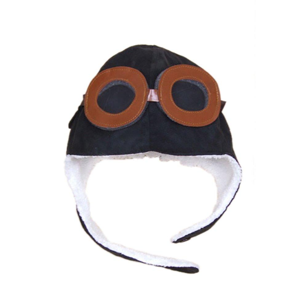 Cupcinu Baby Kids Children Pilot Hat Winter Soft Warm Beanie Hat Aviator Hat Earflap Beanie Cap with Goggles Hat Autumn and Winter