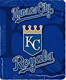 Kansas City Royals Lightning Lightweight 50 Inch x 60 Inch Fleece Throw Blanket Baseball