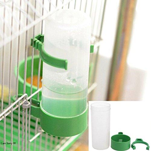 Corner Biz Pet - Parrot Bird Drinker Feeder Watering Plastic With Clip For Aviary Budgie Cockatiel (S)