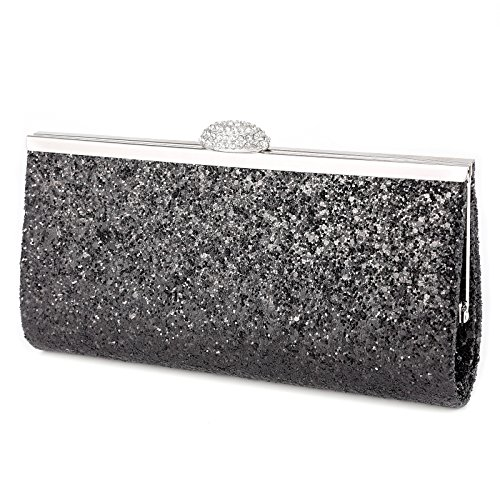Shoulder Wedding Prom Handbag Blue Ladies Shimmer Bag Party Style Party Bag Royal Clutch Womens Evening Glitter 7nzqPwaw
