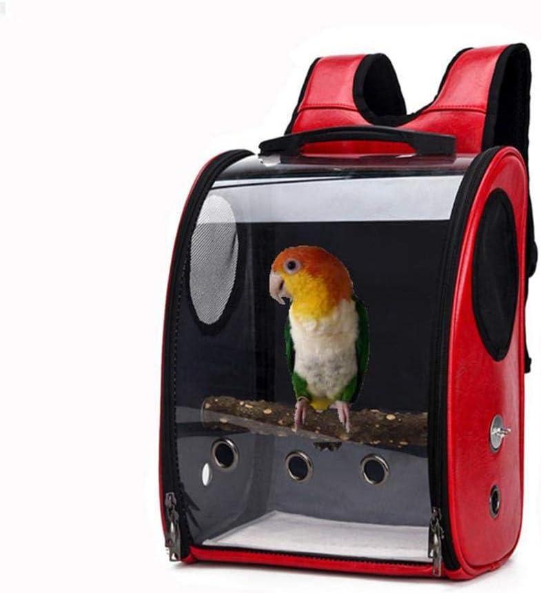 Viajes Transparente Y Transpirable Bolsa con El Soporte C/ápsula Espacial Mochila para Mascotas Aves Loro,Azul P/ájaro del Loro De Carrier Bolsa De Viaje GCSEY 1PC Carrier Mascotas