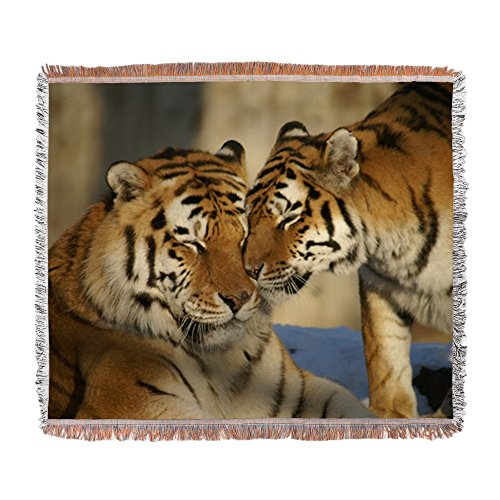 - Woven Blanket Nuzzling Tiger Love
