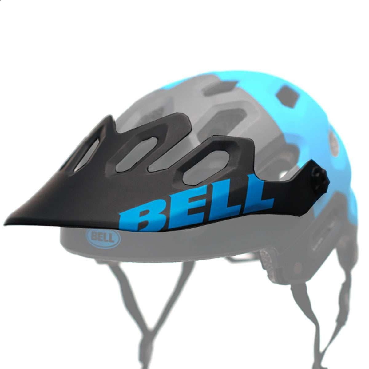 Bell Super 2/2R Helmet - Replacement Visor - Matte Black/Blue Aggression - 8047958