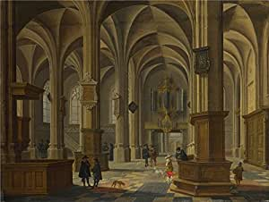 'Bartholomeus van Bassen Interior of St Cunerakerk Rhenen ' oil painting, 12 x 16 inch / 30 x 40 cm ,printed on Perfect effect canvas ,this Amazing Art Decorative Canvas Prints is perfectly suitalbe for Garage decor and Home decoration and Gifts