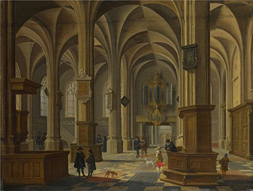 Oil Painting 'Bartholomeus Van Bassen - Interior Of St Cunerakerk, Rhenen,1638' 10 x 13 inch / 25 x 34 cm , on High Definition HD canvas prints is for Gifts - Sunglasses Roots Canada