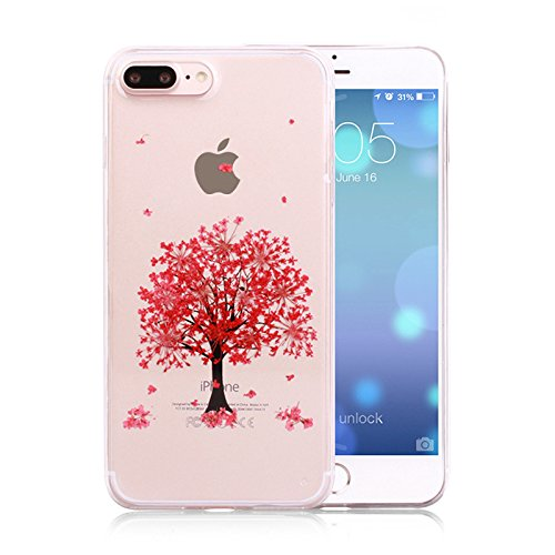 release date 511f9 2aad2 Amazon.com: Rebbygena Real Flower Case iPhone 8 Plus Case Red ...