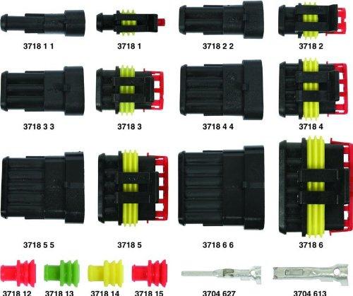 Kit de conectores macho y hembra Super Seal, 4 ví as hermé ticas, para coche, moto, caravana 4 vías herméticas ErreBi Cablaggi