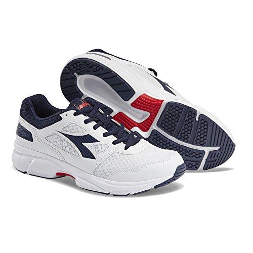 Diadora Shape 10, Chaussures de Running Mixte Adulte Multicolore (Bianco/Blu Corsaro C1494)