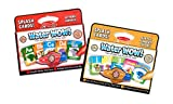 Melissa & Doug On the Go Water Wow! Reusable Water-Reveal Activity Cards, 2-pk, Alphabet and Shapes, Numbers, Colors