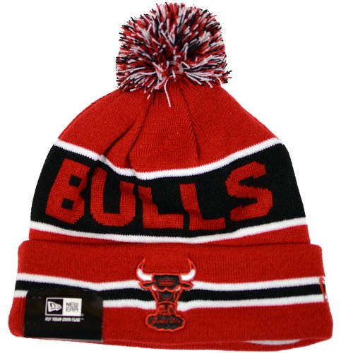 Chicago Bulls NBA Red the Coach New Era Pom Knit Hat (Best Nba Cheerleading Teams)
