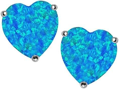 Star K Sterling Silver 7mm Heart Shape Earrings Studs