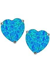 Star K 7mm Heart Shape Earrings Studs