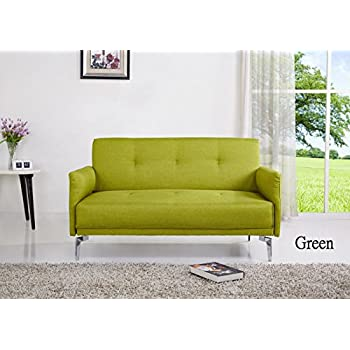 Container Furniture Direct Emma Collection Modern Fabric Upholstered 2  Person Living Room Loveseat, Green