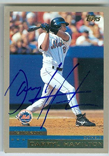 (Darryl Hamilton autographed baseball card (New York Mets) 2000 Topps #378 )