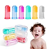 Baby Finger Toothbrush (6 PCS),Tinabless Baby Food Grade Silicone Toothbrush With Case Set for Infant &Toddlers, Toothbrush Teether