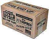 JT Eaton 111-00PRE6 Stick-Em Pre-Baited Rat/Mouse Size Peanut Butter Scented Double Glue Trap Tray, 10