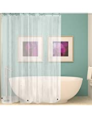 Wimaha Clear Shower Curtain Liner 71x71, Waterproof Shower Liner with Heavy Duty Magnets for Bathroom, 12 Metal Grommets, Clear