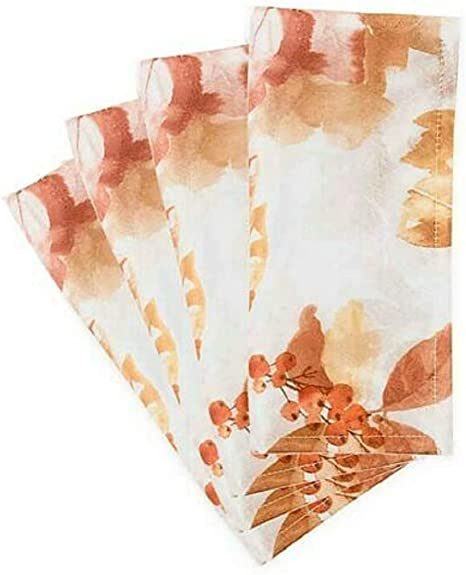 Amazon Com Bed Bath And Beyond Rustic Berries Autumn Themed Napkins Set Of 4 Home Kitchen