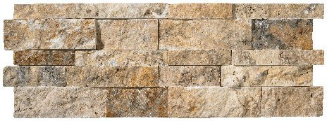 (Scabos Travertine Splitface Stacked Ledger Wall Panel 7 in. x 20 in. Natural Stone Tile - 10 pcs / 10)