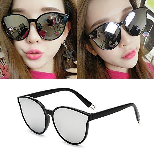 lunettes de soleil les pop stars lunettes nouveau cycle des lunettes de soleil mesdames élégant visage rond korean les yeuxboîte noire film bleu (sac) ReTLTBL