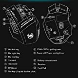 New-Version-Zelotes-F14-Professional-Blue-LED-2400-DPI-9-Buttons-USB-24G-Optical-Wireless-Gaming-Mouse-Mice-for-gamerBlack