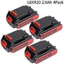 [Patrocinado] Batería de repuesto de iones de litio para Milwaukee M12 (4 unidades, 12 V, 2000 mAh)