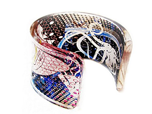 1-transparent-clear-acrylic-resin-epoxy-plexiglass-bracelet-cuff-bangle-with-hand-printed-art-graphi